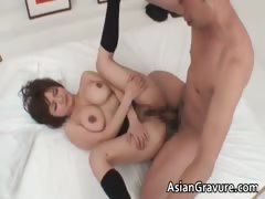 Sexy asian brunette Meguru...